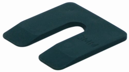 uitvulplaatje 3 mm zwart (zak 48 st)