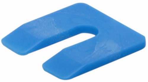 uitvulplaatje 4 mm blauw (zak 48 st)